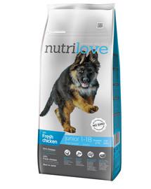 NUTRILOVE Dog Junior Large Fresh Chicken 12kg