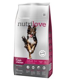 NUTRILOVE Dog Adult Medium Fresh Chicken 8kg