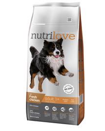NUTRILOVE Dog Adult Large Fresh Chicken 12kg