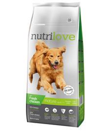 NUTRILOVE Dog Senior Fresh Chicken 12kg granule pro starší psy