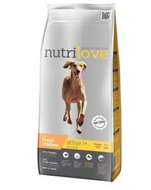 NUTRILOVE Dog ACTIVE Fresh Chicken 3kg