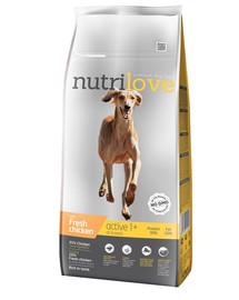 NUTRILOVE Dog ACTIVE Fresh Chicken 12kg