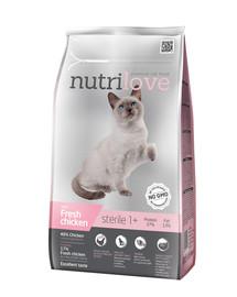 NUTRILOVE Premium Cat Sterile s čerstvým kuřecím 1,4kg