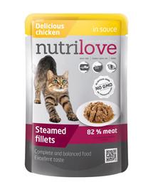 NUTRILOVE Cat Kuřecí filetky v omáčce 85 g