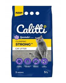 CALITTI Strong bentonitové stelivo pro kočky Levandule 5 l