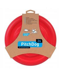 PULLER Pitch Dog Létající talíř růžový 24 cm