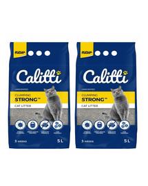 CALITTI Strong Bentonitové stelivo pro kočky bez vůně 5 l + 5 l ZDARMA