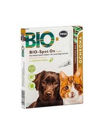 PESS BIO Spot-on kapky proti klíšťatům a blechám pro střední a vleké psy a kočky 4x2 g s neemovým olejem