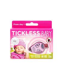 TICKLESS Baby Ultrazvukový Odpuzovač klíšťat pro děti Růžový