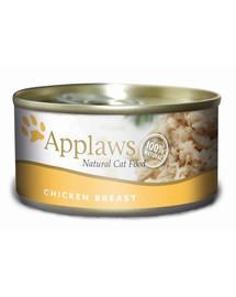 APPLAWS Kuřecí prsa a sýr 70 g x 12 (10+2 ZDARMA)