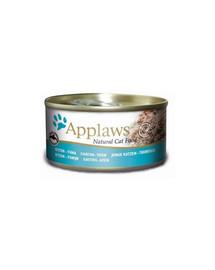 APPLAWS Cat Tin Kitten Tuňák 70 g x 12 (10+2 ZDARMA)