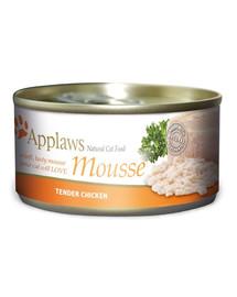 APPLAWS Cat Mousse Tin Kuře 70 g x 12 (10+2 ZDARMA)