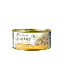 APPLAWS Cat Tin Grain Free Kuře v omáčce 70 g x 12 (10+2 ZDARMA)