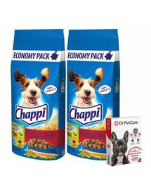 CHAPPI Hovězí,drůbež a zelenina 13,5kg + Dr PetCare MAX Biocide Collar Obojek proti klíšťatům pro střední psy 60 cm ZDARMA