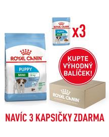 ROYAL CANIN Mini Puppy 800g box + 3 kapsičky zdarma