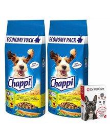 CHAPPI 2x13,5kg Drůbeží a zelenina + Dr PetCare MAX Biocide Collar Obojek proti klíšťatům pro střední psy 60 cm ZDARMA