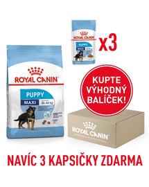 ROYAL CANIN Maxi Puppy 1kg box + 3 kapsičky 140g zdarma