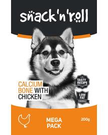 SNACK & ROLL Calcium Bone with Chicken 3x200g 2+1 ZDARMA