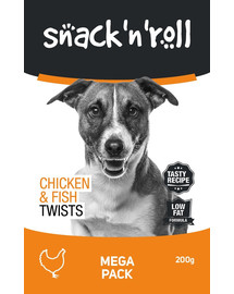 SNACK & ROLL Chicken and Fish Twists 3x200 g 2+1 ZDARMA
