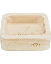 TRIXIE Dřevěná miska pro králíky / hlodavce 60ml / 8x8cm