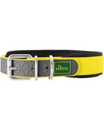 HUNTER obojek Convenience Comfort L-XL (65) 52-60/2,5cm žlutý