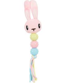 ZOLUX Chrastítko mazlivé pro štěňata XS 6,5 x 3,5 x 35cm růžový králík