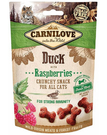 CARNILOVE Cat Crunchy Snack Duck with Raspberries 50 g