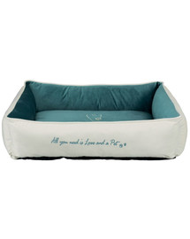 TRIXIE Pelech Pet's Home bed, 80 × 60 cm, krémový/petrol