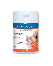 FRANCODEX Vitamíny pro psy a kočky 60 tablet