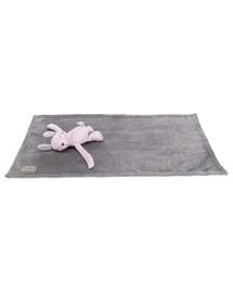 TRIXIE Junior set - deka plyšový medvídek, šedá/světle fialová