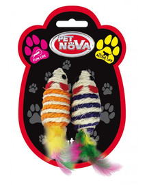 PET NOVA Hračka pro kočky, myši 7x3cm, sada 2
