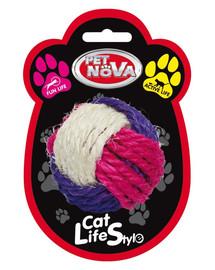 PET NOVA Sisalová koule pro kočky 6 cm
