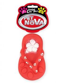 """PET NOVA DOG LIFE STYLE Žabky """"japonská"""" psí hračka 15cm červená"""