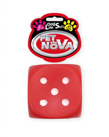 PET NOVA DOG LIFE STYLE Házející kostka pro psa 6 cm červená