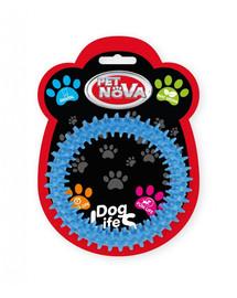 PET NOVA DOG LIFE STYLE dentální hračka Ringo 12,5cm, modrá, mátová vůně