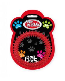 PET NOVA DOG LIFE STYLE  dentální hračka Ringo12,5 cm, červená, mátové aroma
