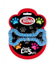 PET NOVA DOG LIFE STYLE Psí lano, kost 20 cm, modrá, mátová příchuť