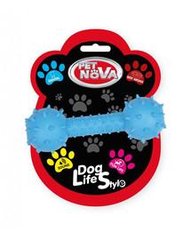 PET NOVA DOG LIFE STYLE Činka se zvonkem 14cm, modrá, hovězí příchuť