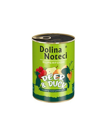 DOLINA NOTECI Premium SuperFood Jelen a Kachna 400 g