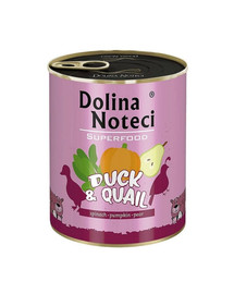 DOLINA NOTECI Premium SuperFood Kachna a křepelka 800g