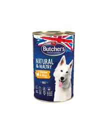BUTCHER'S Natural&Healthy Dog Paté Kuřecí s rýží 1200 g