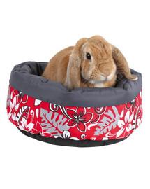 TRIXIE Pelíšek pro králíka flower Ø 35 cm. Červený