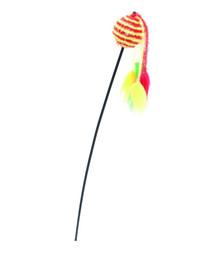 COMFY Udička s míčkem žluto-červené 65