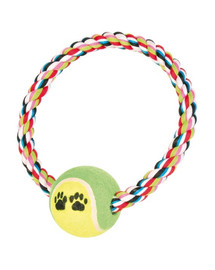 TRIXIE Bavlněný kruh s tenisovým míčem 6 cm / 18 cm