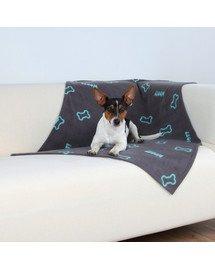 TRIXIE Deka pro psy BEANY šedá a modré kostičky 100x70 cm