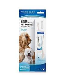 FRANCODEX Sada na čištění zubů - zubní pasta + kartáček