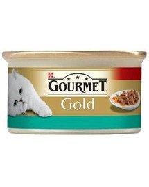 GOURMET Gold losos a kuřecí v omáčce 85 g