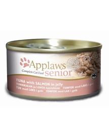 APPLAWS Senior Cat konzerva Tuňák a losos 70 g