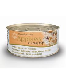 APPLAWS Cat konzerva kuře a makrela v želé 70g