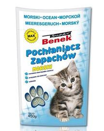BENEK Sanitizér/Pohlcovač zápachů tyrkysové 450 g
